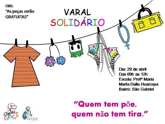 """""""Varal Solidário"""" levará doações ao bairro São Gabriel em Guarapari"""