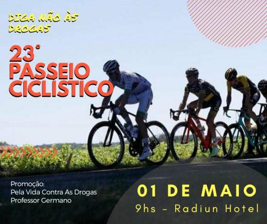 Passeio ciclístico reforça luta contra as drogas nesta terça-feira (1)