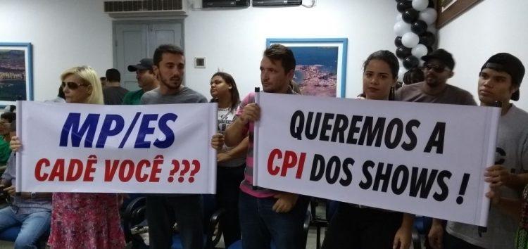Plenário cheio e CPI dos Shows negada mais uma vez na Câmara de Guarapari
