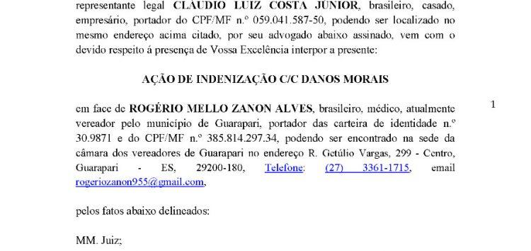 Cadeiras giratórias da Câmara: Após polêmica, empresa decide processar vereador de Guarapari