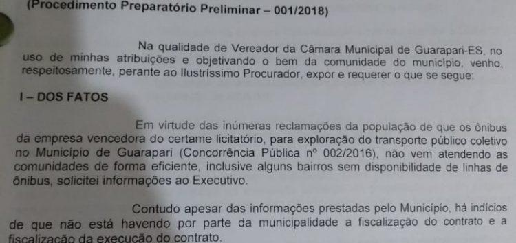 Denúncia: frota reduzida e falta de ônibus em áreas de Guarapari