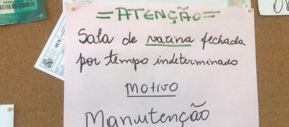 Em plena campanha, sala de vacinação em Guarapari está fechada por tempo indeterminado