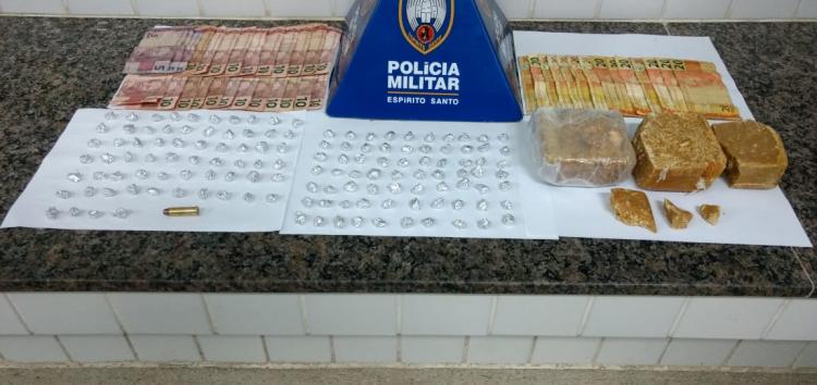 Polícia descobre local utilizado para venda e preparo de drogas, em Guarapari