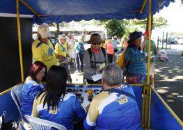 Andarilhos finalizam o percurso e chegam ao Santuário Nacional de Anchieta