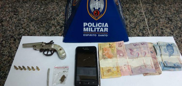 Polícia Militar apreende arma e drogas no bairro Kubistchek em Guarapari