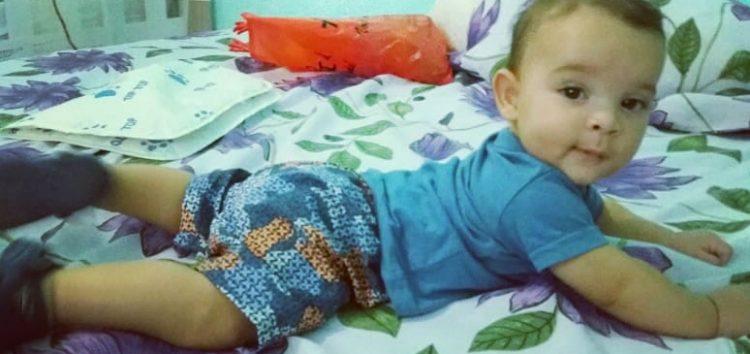 Família do bebê com severa alergia a leite pede ajuda em Guarapari