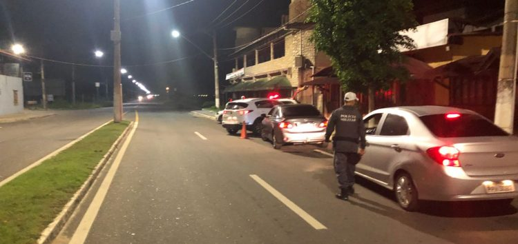 Fim de semana de Lei Seca com 84 carros abordados em Guarapari