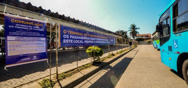 Interdição no Terminal de Itaparica afeta passageiros de Guarapari