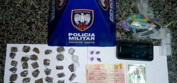 Suspeito é preso com drogas na Praia do Morro em Guarapari