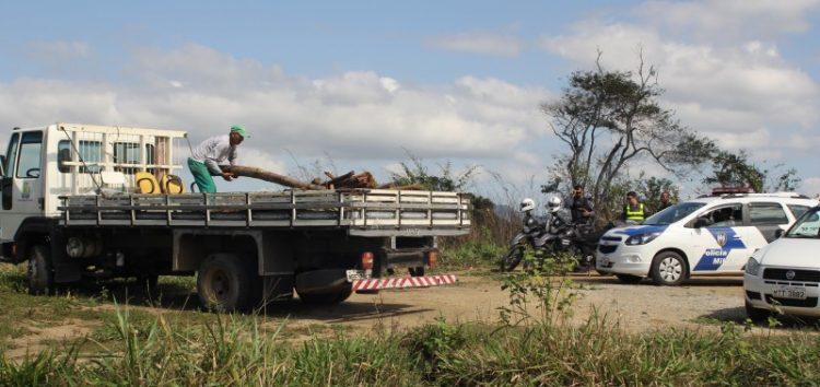 Crime ambiental em Concha D'Ostra é constatado e três pessoas são apreendidas em Guarapari