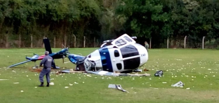 Trave e sol podem ter contribuído para acidente com helicóptero onde Hartung estava