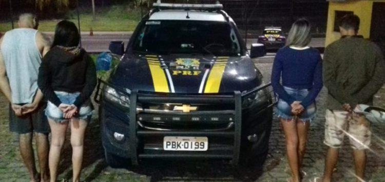 PRF prende quadrilha por tráfico de drogas na BR 101 em Guarapari
