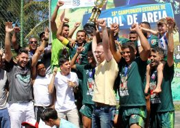 Beach Soccer de Anchieta é tetracampeão no masculino e vice no feminino