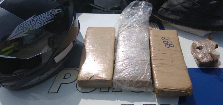 Polícia apreende 3kg de maconha em Nova Guarapari