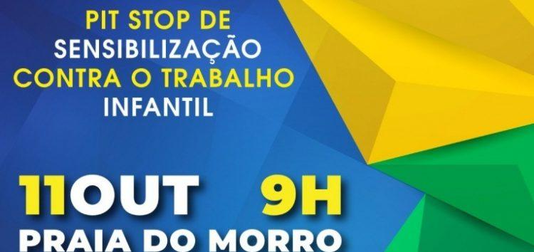 Pit stop conscientiza sobre trabalho infantil em Guarapari