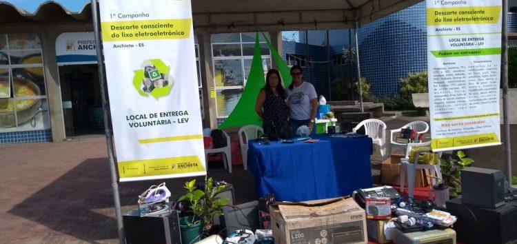 2ª Campanha para recolhimento de lixo eletroeletrônico em Anchieta segue até dia 08
