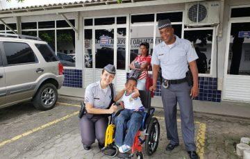 Estudante de Guarapari que sonha em ser policial visita o 10º Batalhão da Polícia Militar