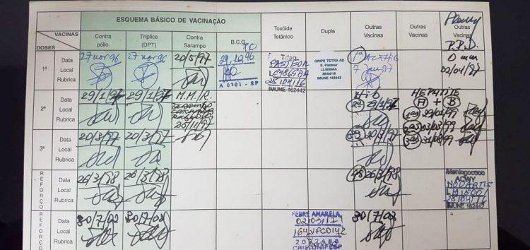 Cartão de Vacinação será exigido para matrícula em escolas do Espírito Santo
