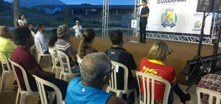 Guarapari assina ordem de serviço para pavimentação em Jardim Santa Rosa