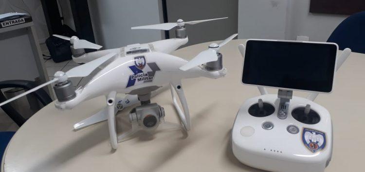 Drone da PM fará segurança no Morro da Pescaria durante o verão em Guarapari