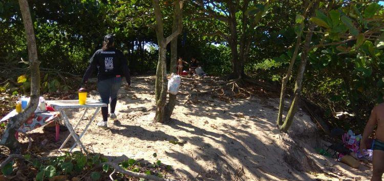 PM é acionada após churrasco em praia de Guarapari