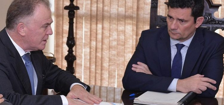 Em reunião com Sérgio Moro, Casagrande fala do sistema prisional do ES