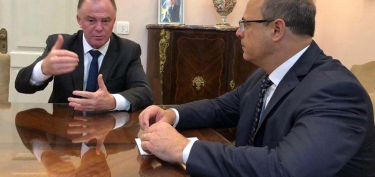 Em reunião com governador do Rio de Janeiro, Casagrande discute parceria com o estado