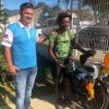 Ciclista que já pedalou por 29 países passa por Guarapari