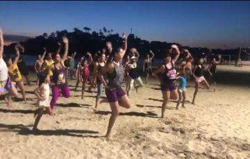 Anchieta oferece aulas de zumba nas praias do balneário