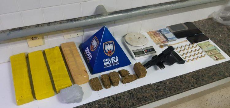 Quadrilha é detida com arma e drogas em Guarapari