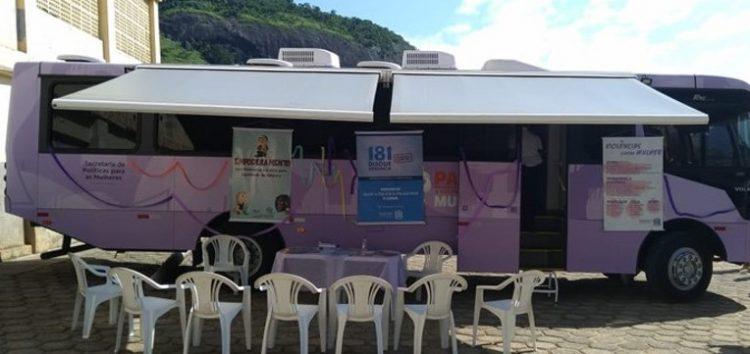 Guarapari recebe ônibus de atendimento à mulher do campo