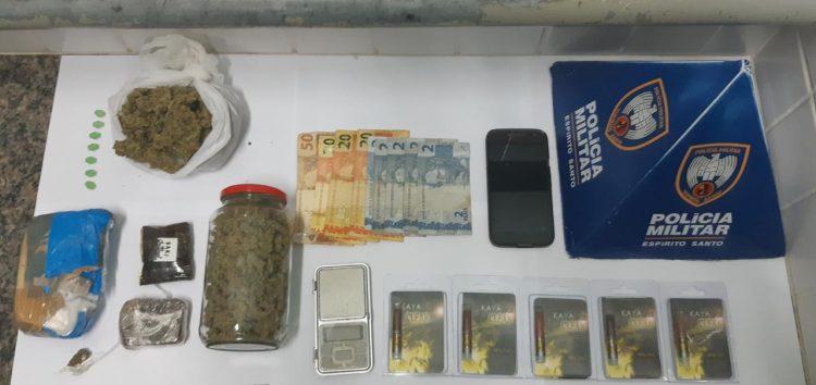 PM de Guarapari dá prejuízo de R$ 30 mil em drogas para detido em Itapebussu