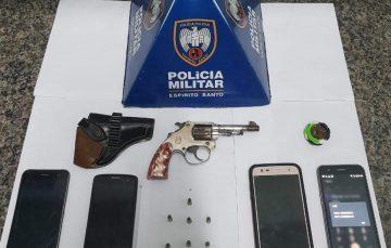 PM detém assaltante e recupera objetos em Guarapari