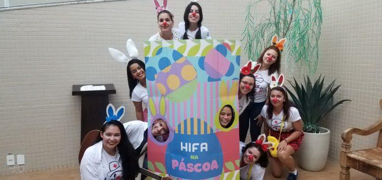 Oficinas e brincadeiras fizeram parte da Páscoa Solidária do HFA em Guarapari