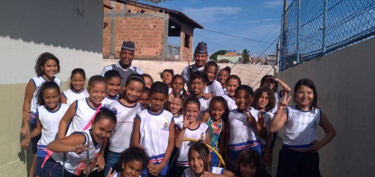 10º Batalhão de Guarapari inicia as aulas do Programa Educacional de Resistências às Drogas