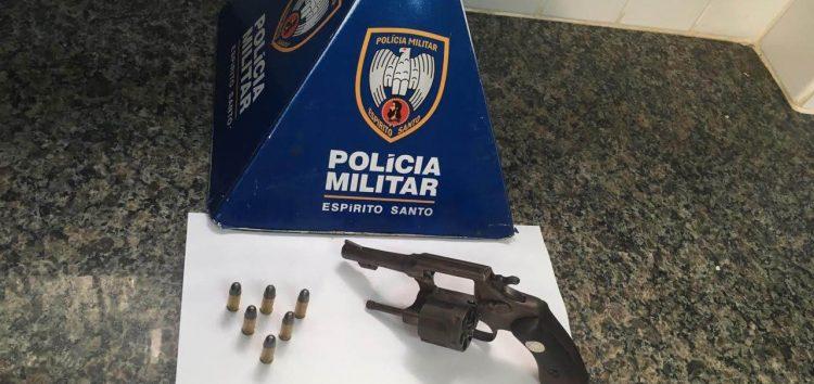Durante abordagem em Guarapari, PM apreende arma de fogo