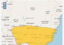 Guarapari tem alerta de mau tempo com vendaval e tempestade de raios nesta quarta (15)