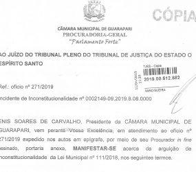 Câmara de Guarapari acompanha relator do TJES sobre inconstitucionalidade da Lei de Eventos
