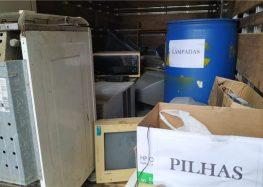 Ação em Alfredo Chaves recolhe quase uma tonelada de lixo eletrônico