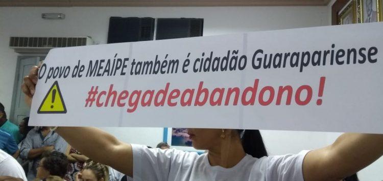 Manifestação de moradores de Meaípe na Câmara de Guarapari reivindicou a votação dos projetos de urbanização da orla do bairro