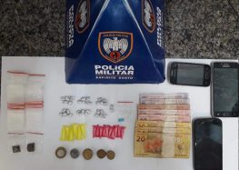 Dois homens e um adolescente foram detidos com drogas em Guarapari