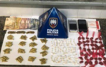 Cerco ao tráfico em Guarapari: PM apreende grande quantidade de drogas no fim de semana