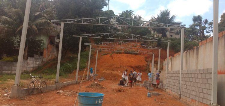 Projeto social recebe ajuda de voluntários para seguir com obra em Guarapari