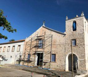 Pedras da construção original do Santuário Nacional de Anchieta estão em exposição