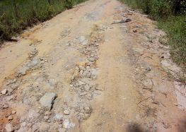 Comunidade de Rio Claro se queixa das condições de estradas em zona rural de Guarapari