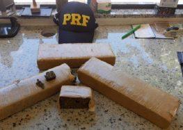 PRF prende homem que transportava mais de 2kg de maconha em Guarapari
