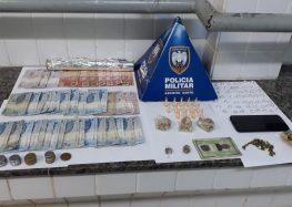 PM apreende drogas e arma de fabricação caseira em Guarapari
