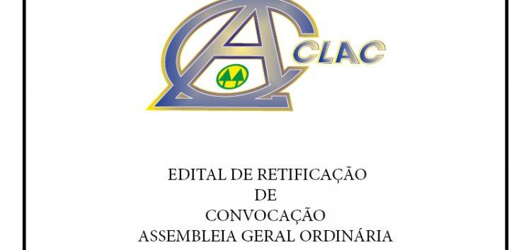 CLAC –  Edital de Retificação de Convocação Assembleia Geral Ordinária