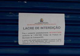 Estabelecimento não cumpre decreto estadual e é fechado pela Prefeitura de Guarapari