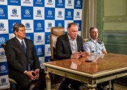 Casagrande troca comando da Secretaria da Segurança Pública e da Polícia Militar